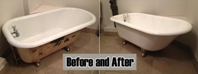 Photo Gallery Claw Foot Tub Reglazing Bathtub Polishing